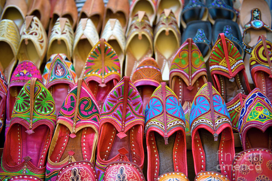 Numerous Colorful Embroidered Shoes Photograph by Tarzan9280
