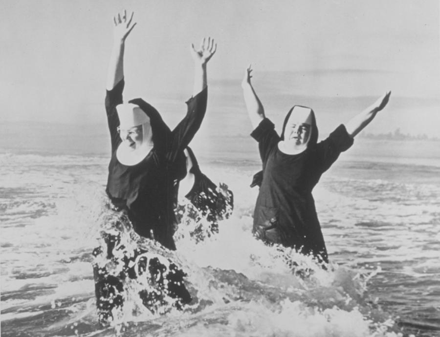 Nuns In The Surf Photograph by American Stock