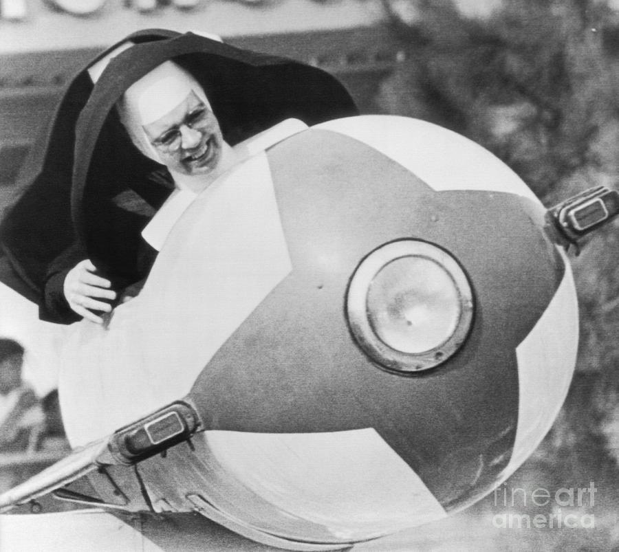 Nuns Ride Tomorrowland Rocket Photograph by Bettmann
