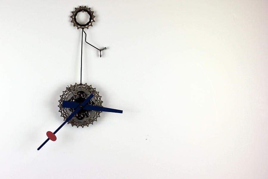 Wall Clock Sculpture - NuSprocket 1.0 by Michael Ediza
