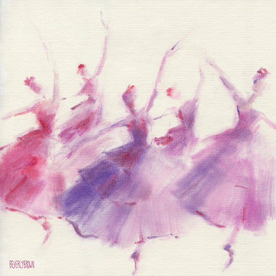 Ballet Painting - Nutcracker Ballet Waltz of the Flowers by Beverly Brown Prints