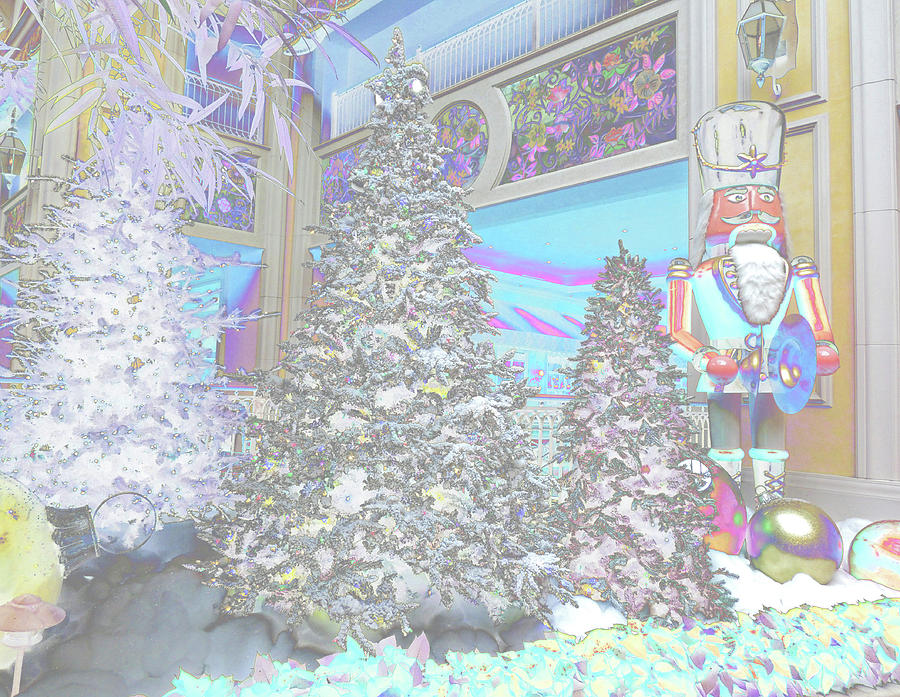 nutcracker s christmas trees in subdued colors digital art by marian bell fine art america