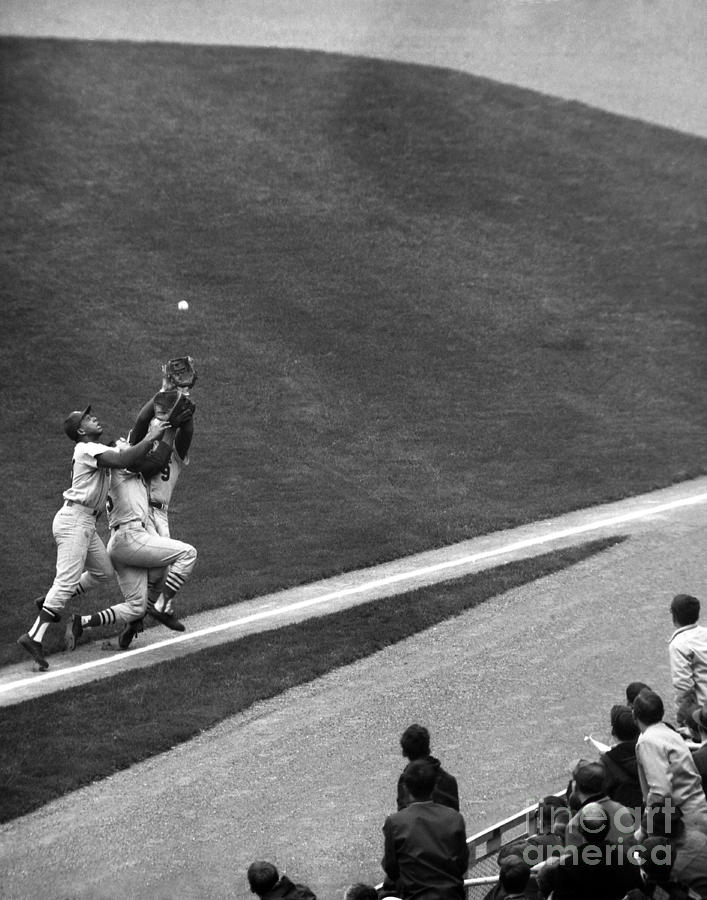 N.y. Mets Vs. St. Louis, Cepeda, Maris Photograph by New York Daily News Archive