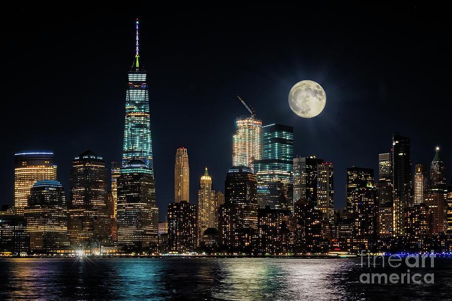 NYC Full Moon by Joseph Perno