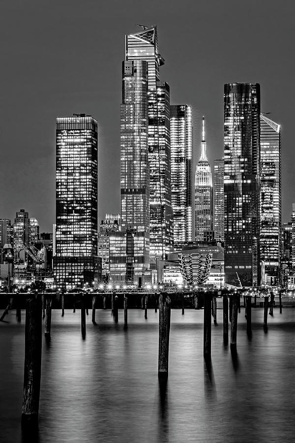 NYC Hudson Yards Skyline BW by Susan Candelario