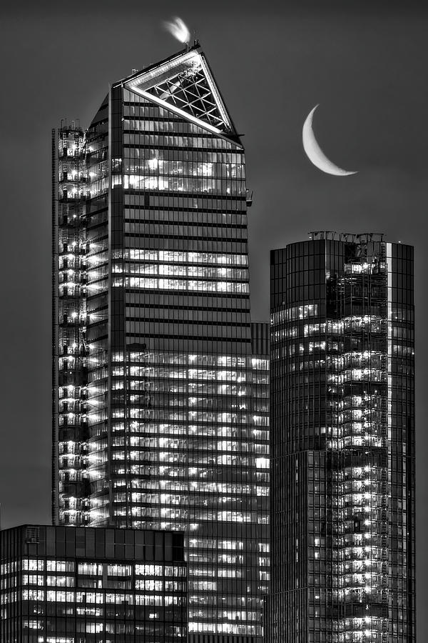 NYC Hudson Yards Skyscrapers BW by Susan Candelario