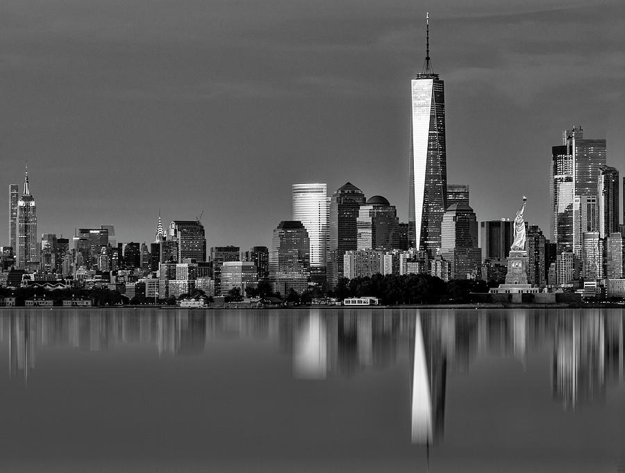 NYC Icons And  Landmarks BW by Susan Candelario