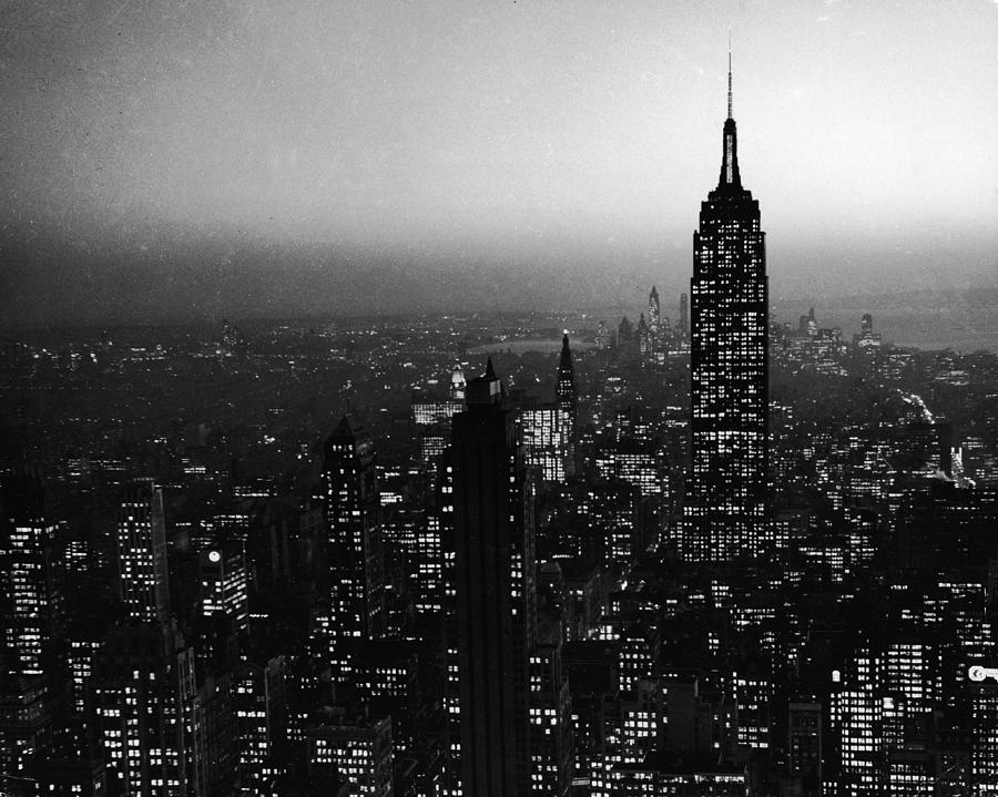 Nyc Skyline At Night Photograph by Frederic Lewis