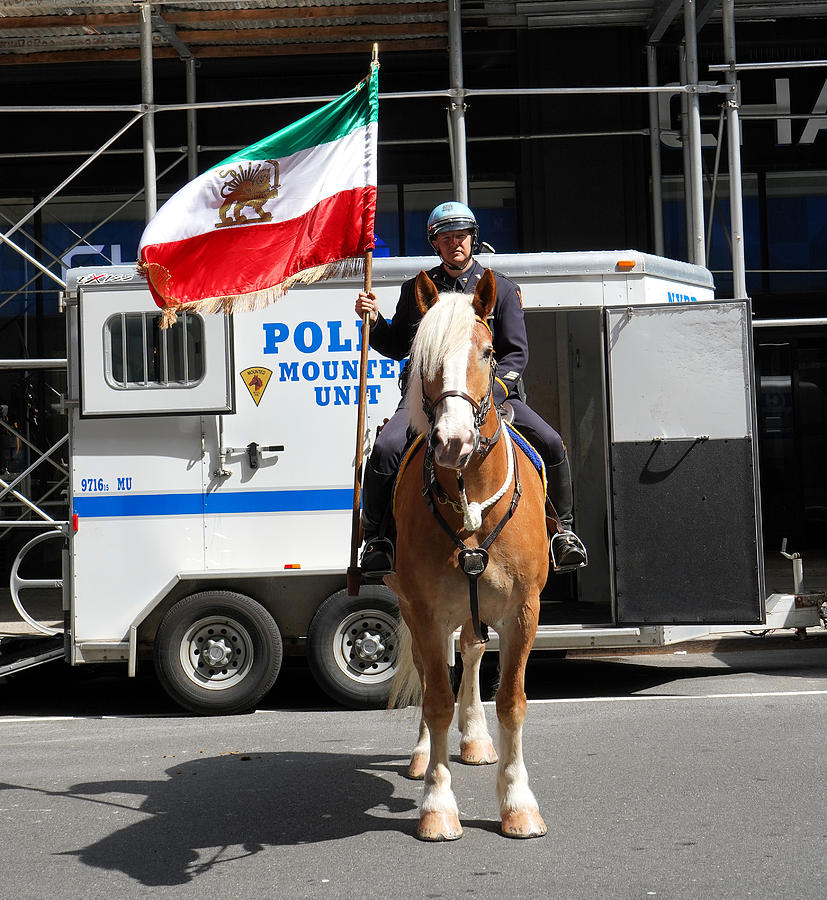 Nypd Mounted Unit 1 by Andrew Fare
