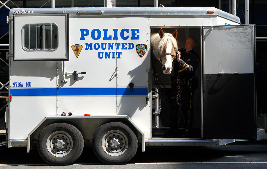 Nypd Mounted Unit 2 by Andrew Fare