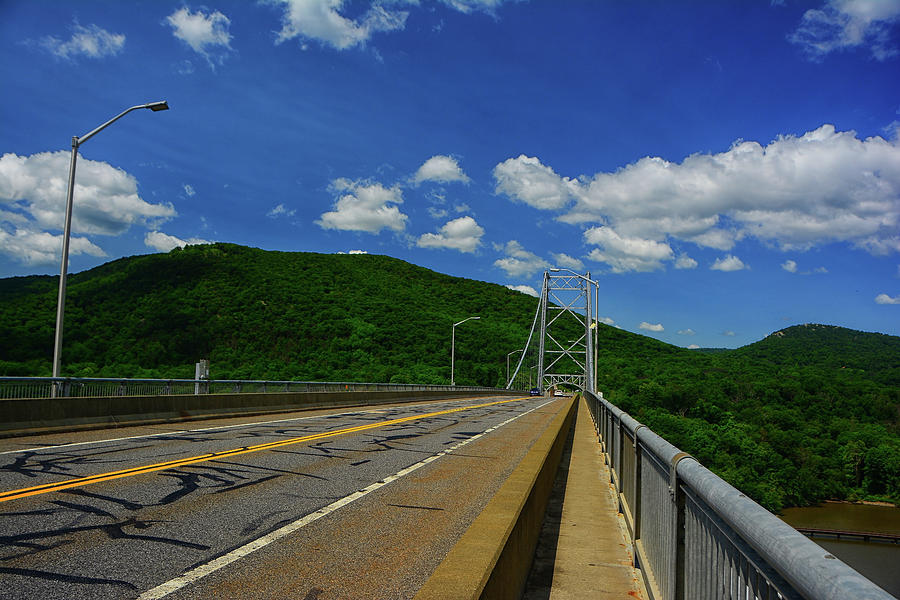 NY's Appalachian Trail Crosses the Bear Mountain Purple Heart Memorial Bridge by Raymond Salani III