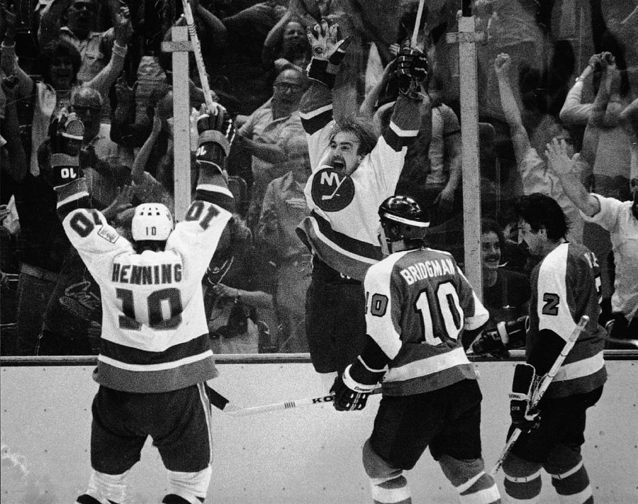 Nystrom Celebrates Winning Goal At Photograph by B Bennett
