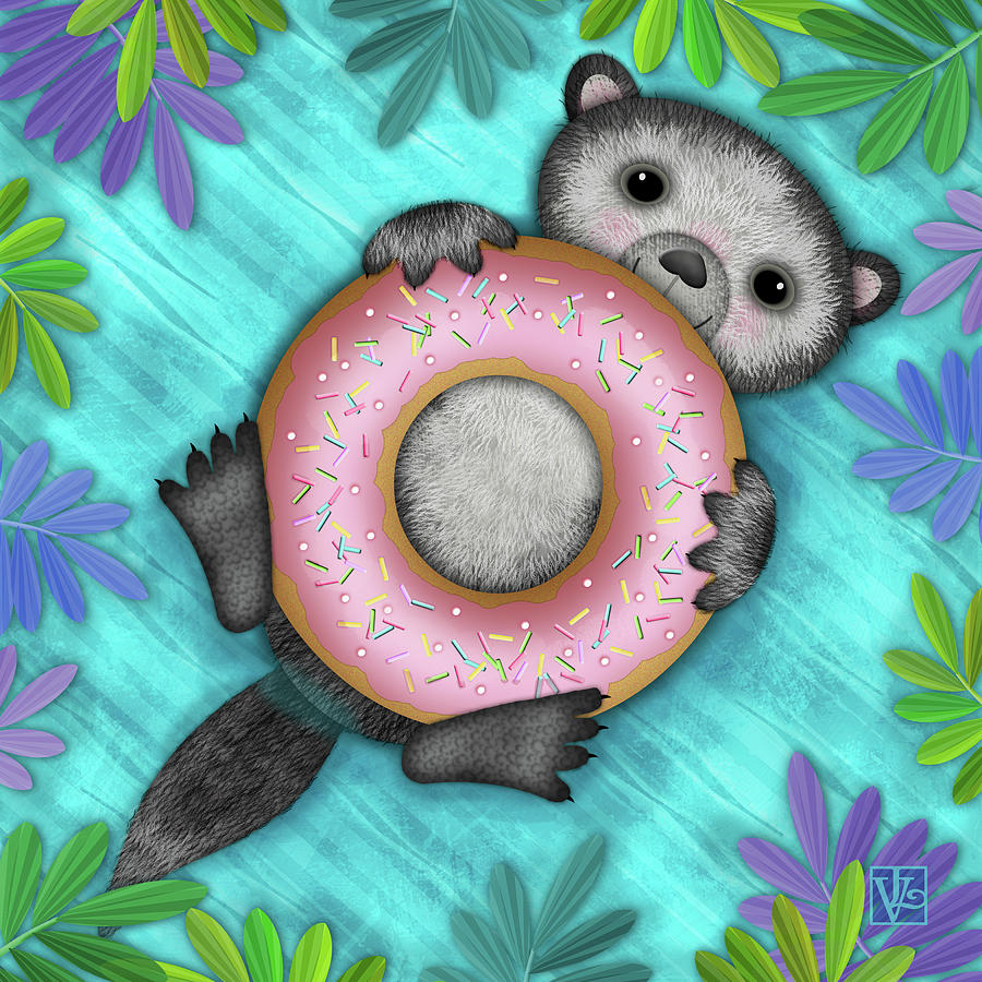 O is for Otter with an O so Delicious Doughnut by Valerie Drake Lesiak