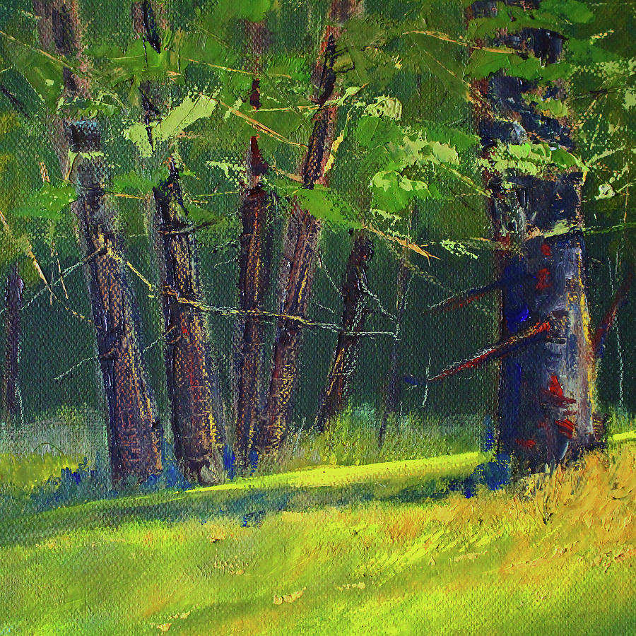 Oak Forest Landscape by Nancy Merkle