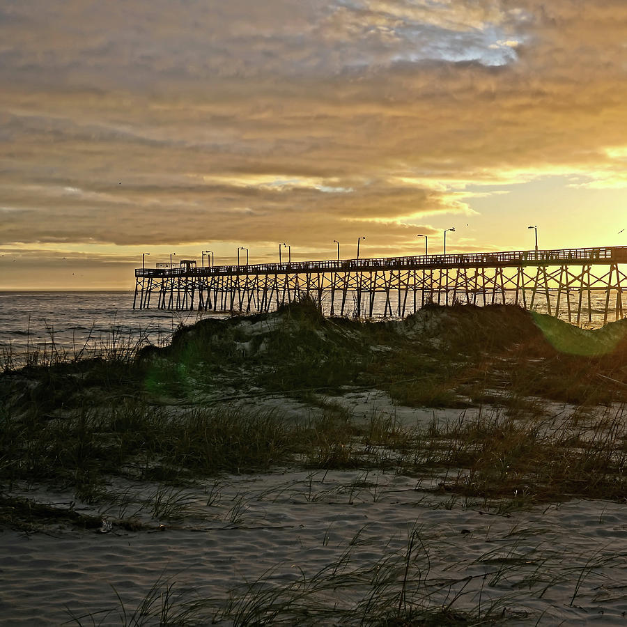 Oak Island Pier Sunset by Don Margulis