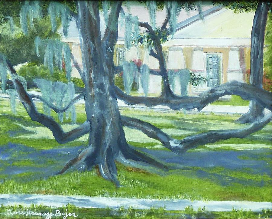 Oak Tree Painting - Oak Tree by Lois Bajor