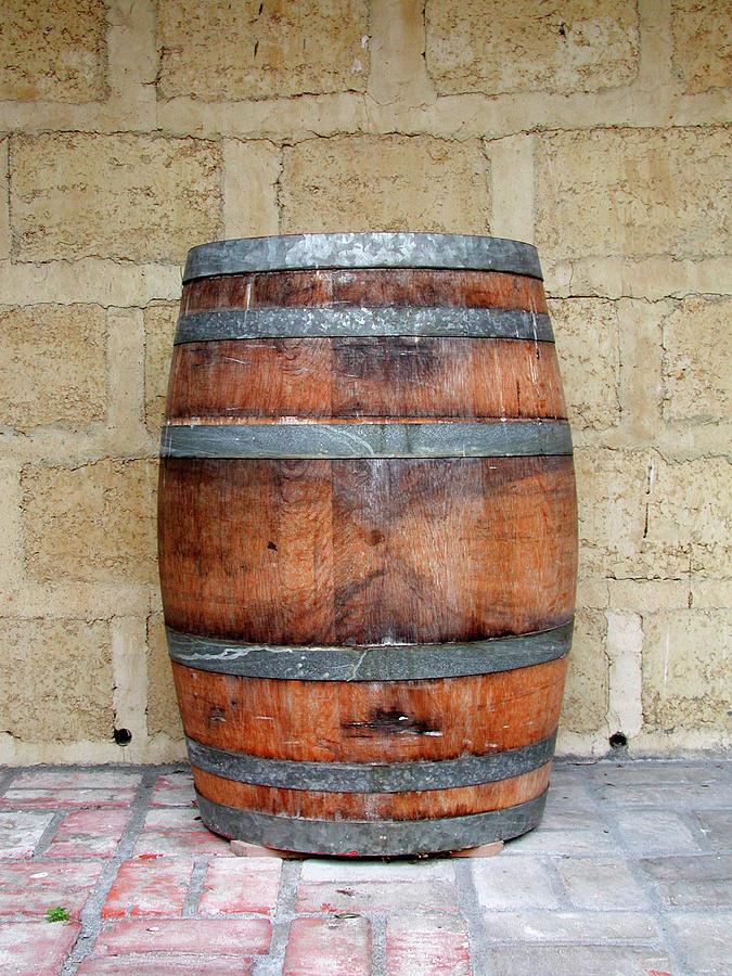 Oak Wine Barrel Photograph by Sassphotos
