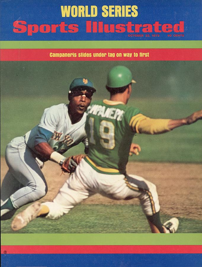 Oakland Athletics Bert Campaneris, 1973 World Series Sports Illustrated Cover Photograph by Sports Illustrated