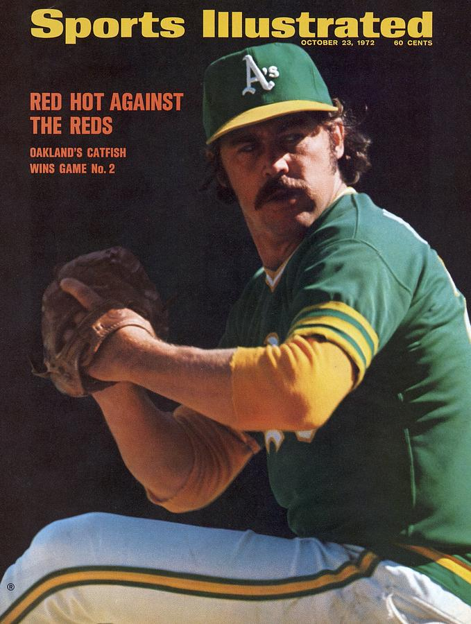 Oakland Athletics Catfish Hunter, 1972 World Series Sports Illustrated Cover Photograph by Sports Illustrated