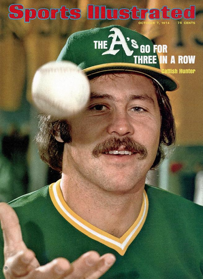 Oakland Athletics Catfish Hunter Sports Illustrated Cover Photograph by Sports Illustrated