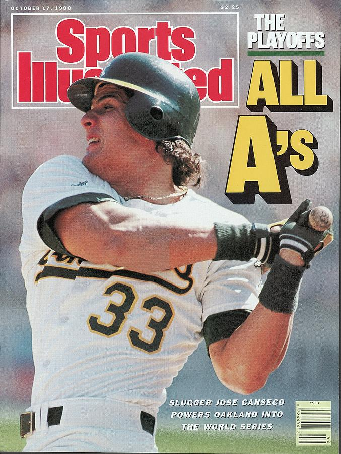 Oakland Athletics Jose Canseco, 1988 Al Championship Series Sports Illustrated Cover Photograph by Sports Illustrated