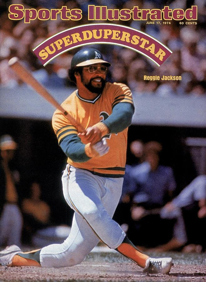 Oakland Athletics Reggie Jackson... Sports Illustrated Cover Photograph by Sports Illustrated