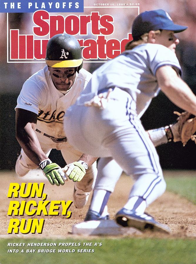 Oakland Athletics Rickey Henderson, 1989 Al Championship Sports Illustrated Cover Photograph by Sports Illustrated