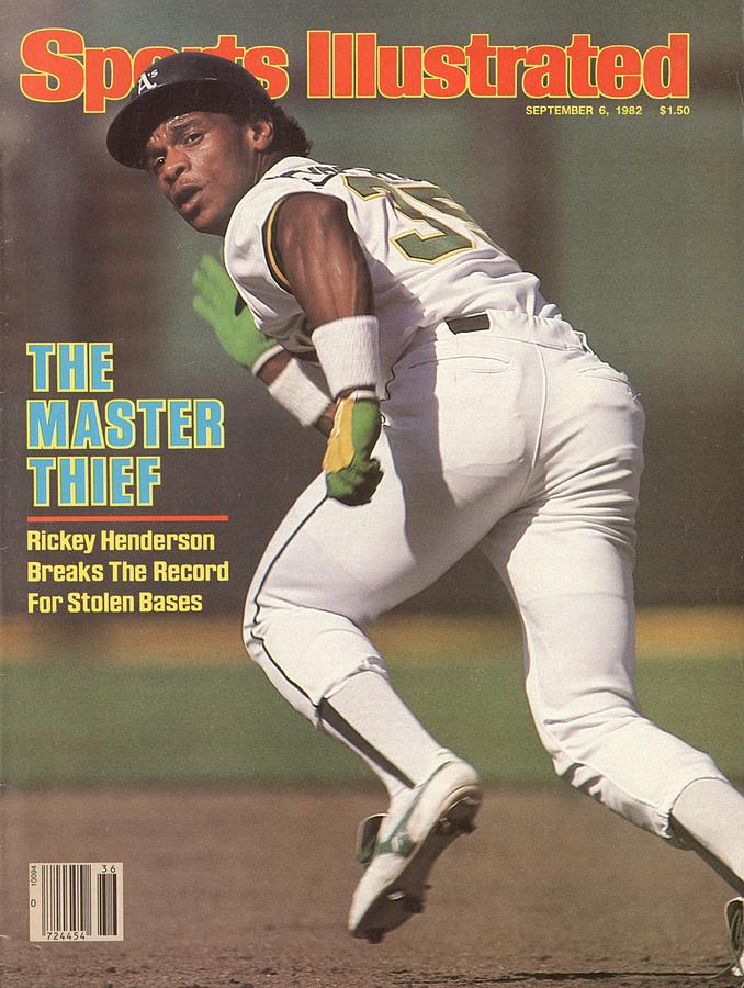Oakland Athletics Rickey Henderson... Sports Illustrated Cover Photograph by Sports Illustrated