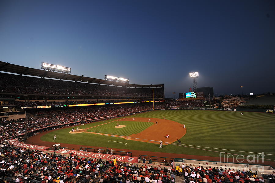 Oakland Athletics V Los Angeles Angels Photograph by Rich Pilling