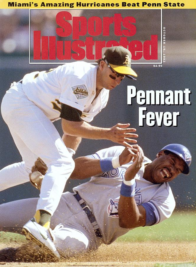 Oakland Athletics Walt Weiss, 1992 Al Championship Series Sports Illustrated Cover Photograph by Sports Illustrated