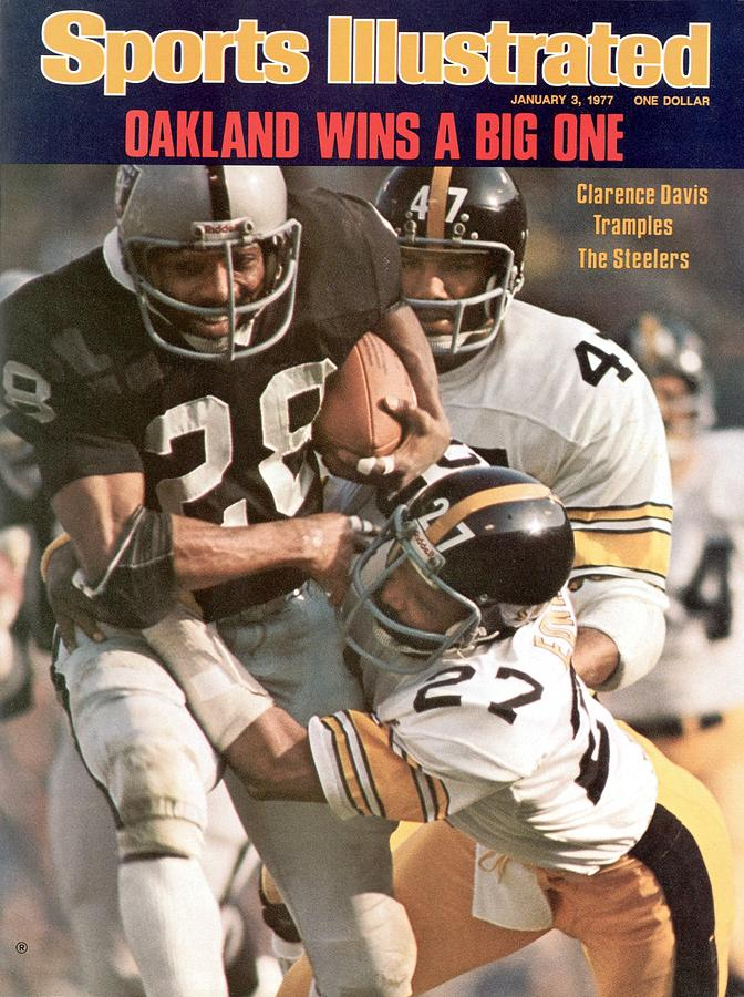 Oakland Raiders Mark Van Eeghen, 1976 Afc Championship Sports Illustrated Cover Photograph by Sports Illustrated