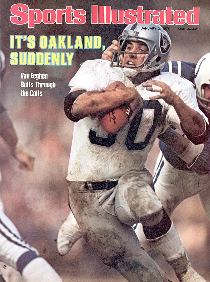 Oakland Raiders Mark Van Eeghen, 1977 Afc Divisional Sports Illustrated Cover Photograph by Sports Illustrated