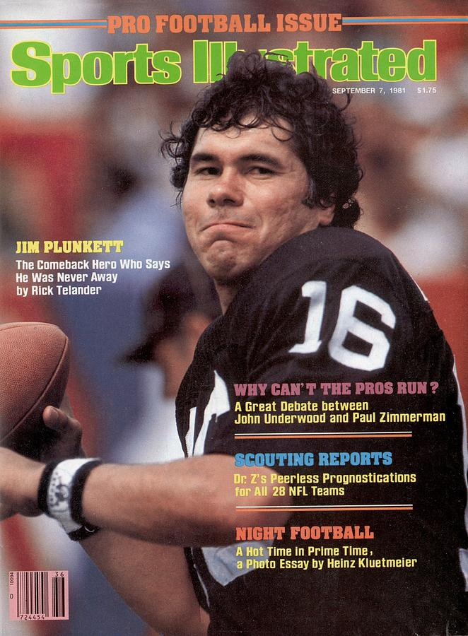 Oakland Raiders Qb Jim Plunkett Sports Illustrated Cover Photograph by Sports Illustrated
