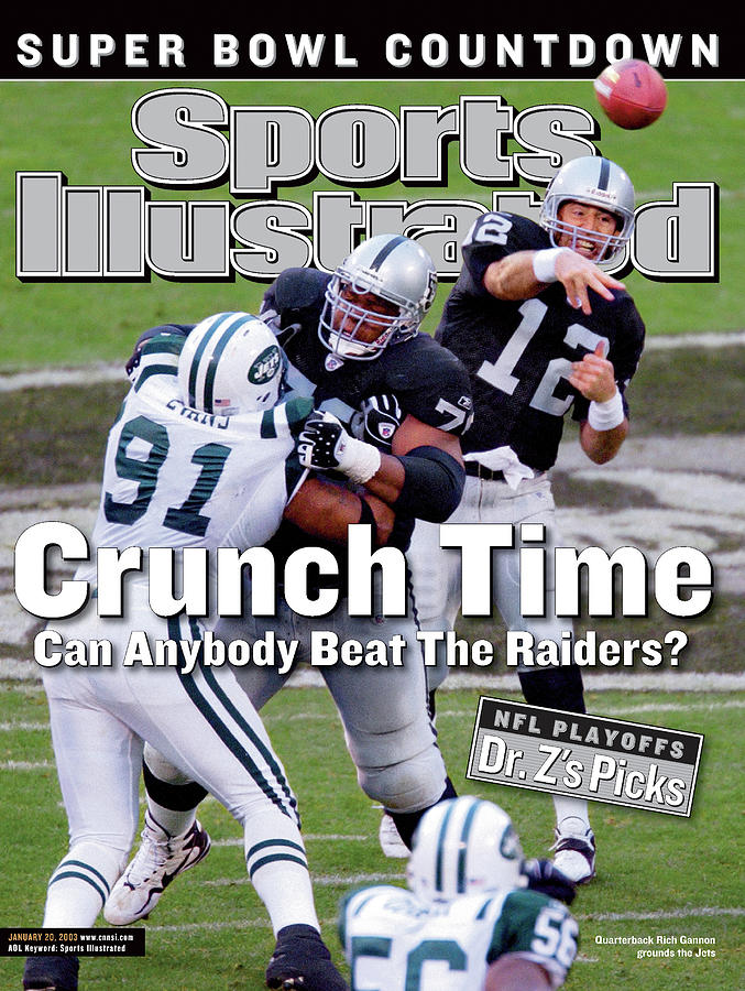 Oakland Raiders Qb Rich Gannon, 2003 Afc Divisional Playoffs Sports Illustrated Cover Photograph by Sports Illustrated
