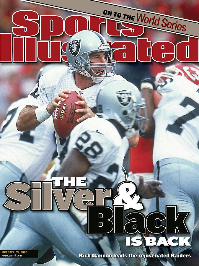 Oakland Raiders Qb Rich Gannon... Sports Illustrated Cover Photograph by Sports Illustrated