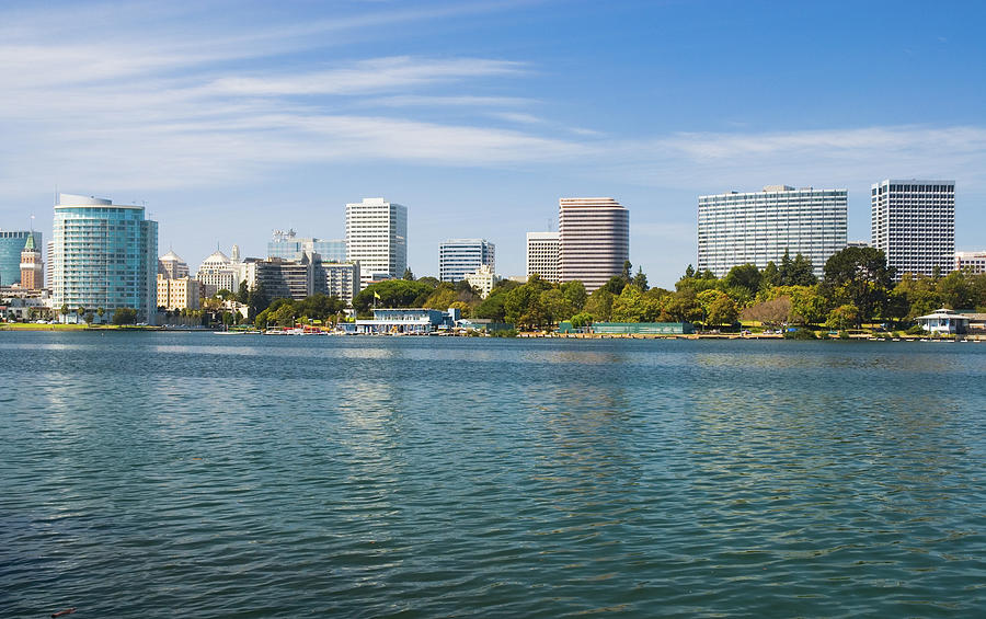 Oakland Skyline And Lake Merritt Photograph by Davel5957
