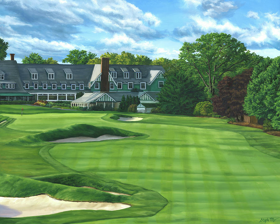 Oakmont Painting - Oakmont Country Club by Steph Moraca