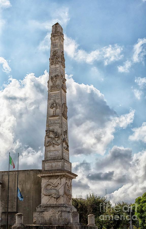 Obelisk in Lecce, Puglia by Patricia Hofmeester