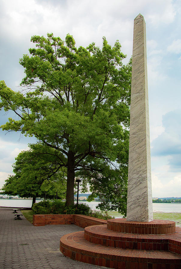 Obelisk in Tide Lock Park by Lora J Wilson