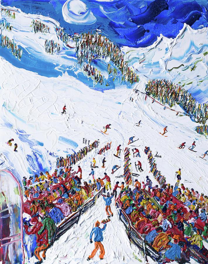 Obergurgl Nederhutte ski print by Pete Caswell