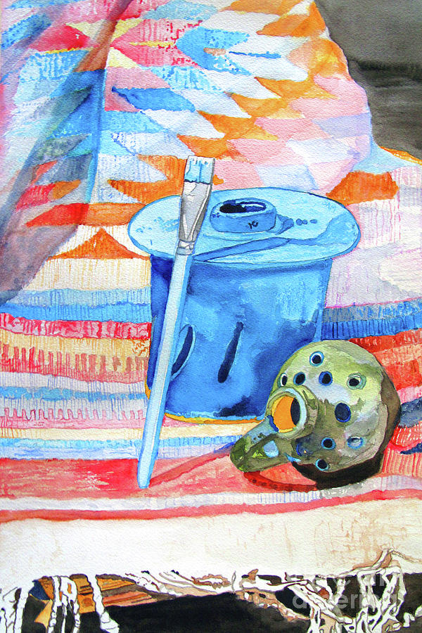 Objects on a Mexican Blanket by Sandy McIntire