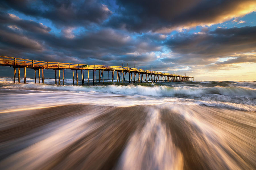 Obx Nc Beach Seascape Nags Head Outer Banks North Carolina Photograph