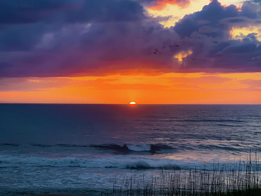 OBX Sunrise on the Last Day by Lora J Wilson