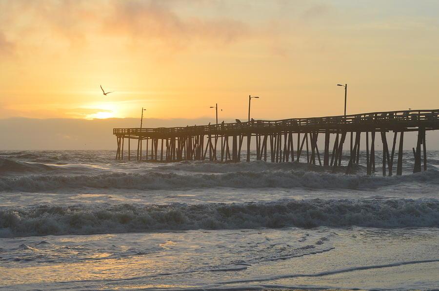OBX Sunrisee NH Pier by Barbara Ann Bell