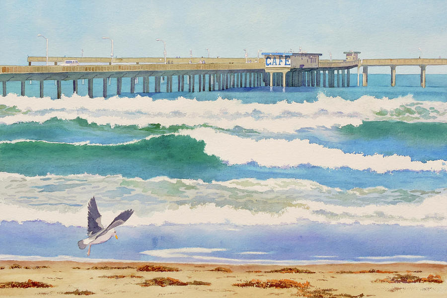 Ocean Beach Pier California by Mary Helmreich