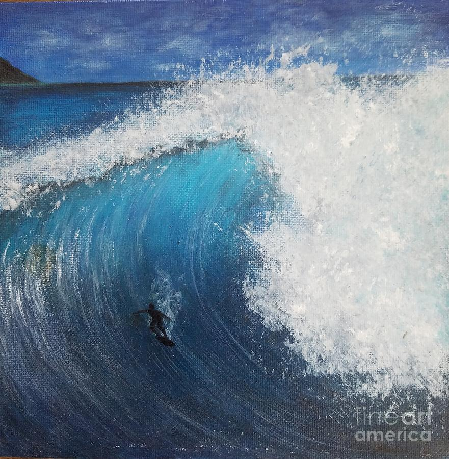 Surfer Mixed Media - Ocean Blue by Amy Lee Coy