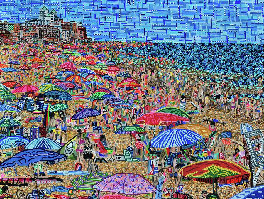 Ocean City Painting - Ocean City, Maryland by Micah Mullen