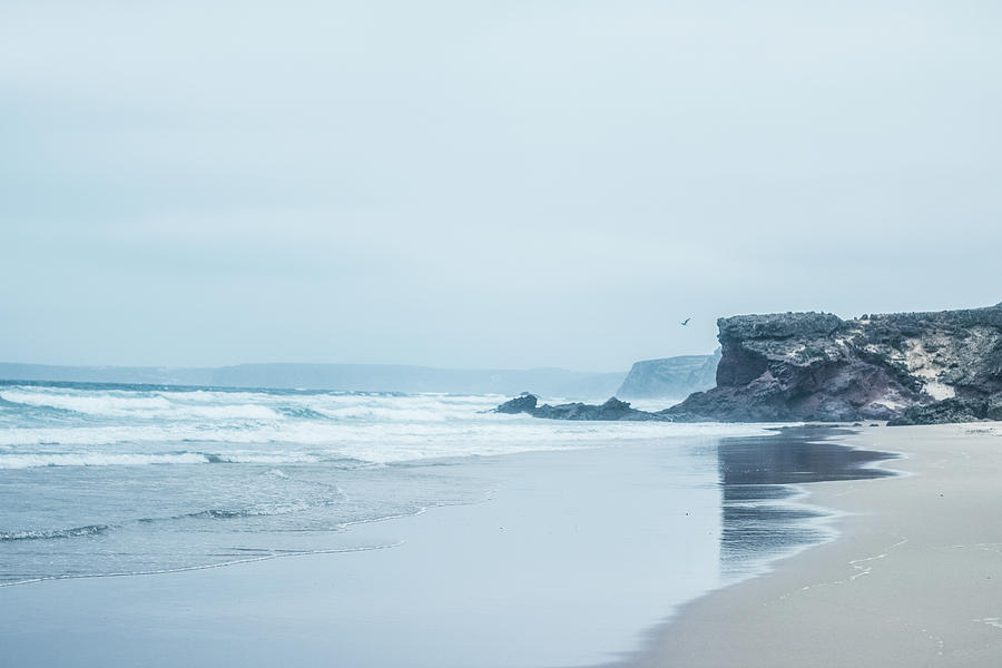 Atlantic Ocean Photograph - Ocean Coast In The Morning by Anne Leven