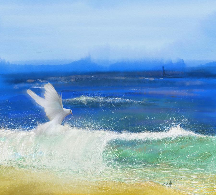 Ocean Dove The Faithful Witness Mixed Media