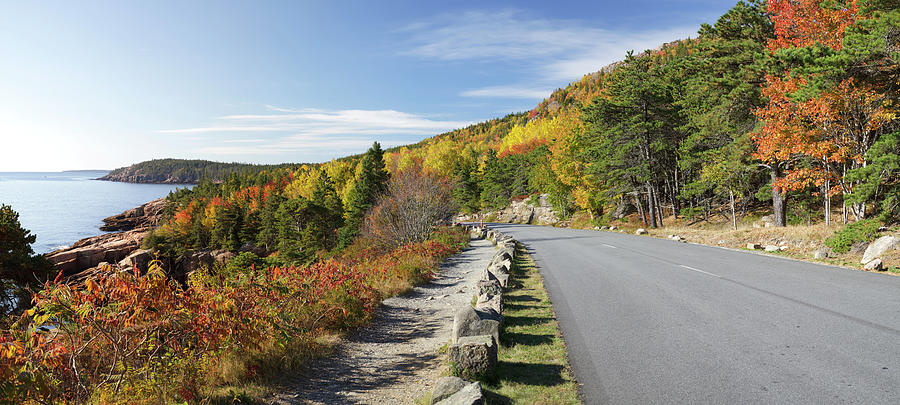 Ocean Drive Road Panorama, Acadia Photograph by Picturelake